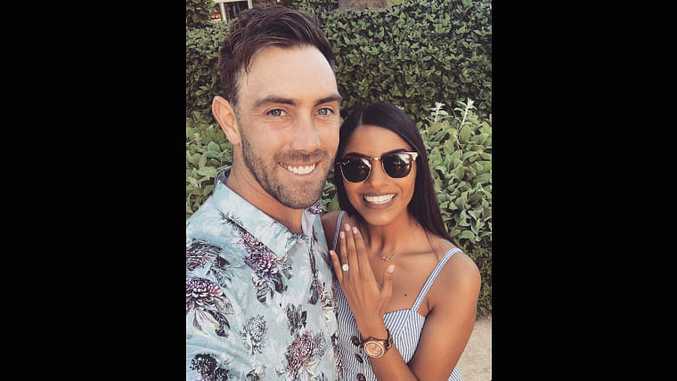 Glenn Maxwell gets engaged to long-time Indian girlfriend Vini Raman