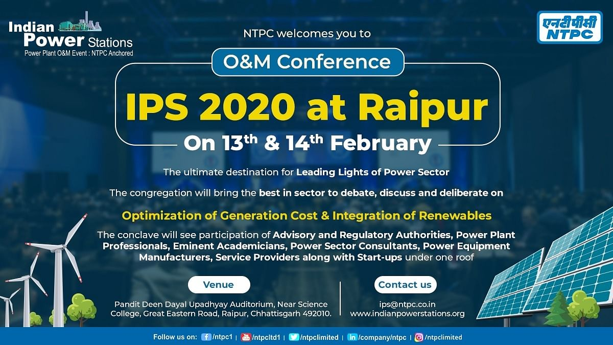 NTPC to organise 9th edition of O&M- IPS2020 conference