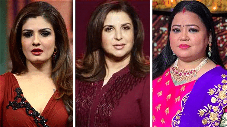 Man seeks arrest of Raveena Tandon, Farah Khan and Bharti Singh for 'hurting' sentiments