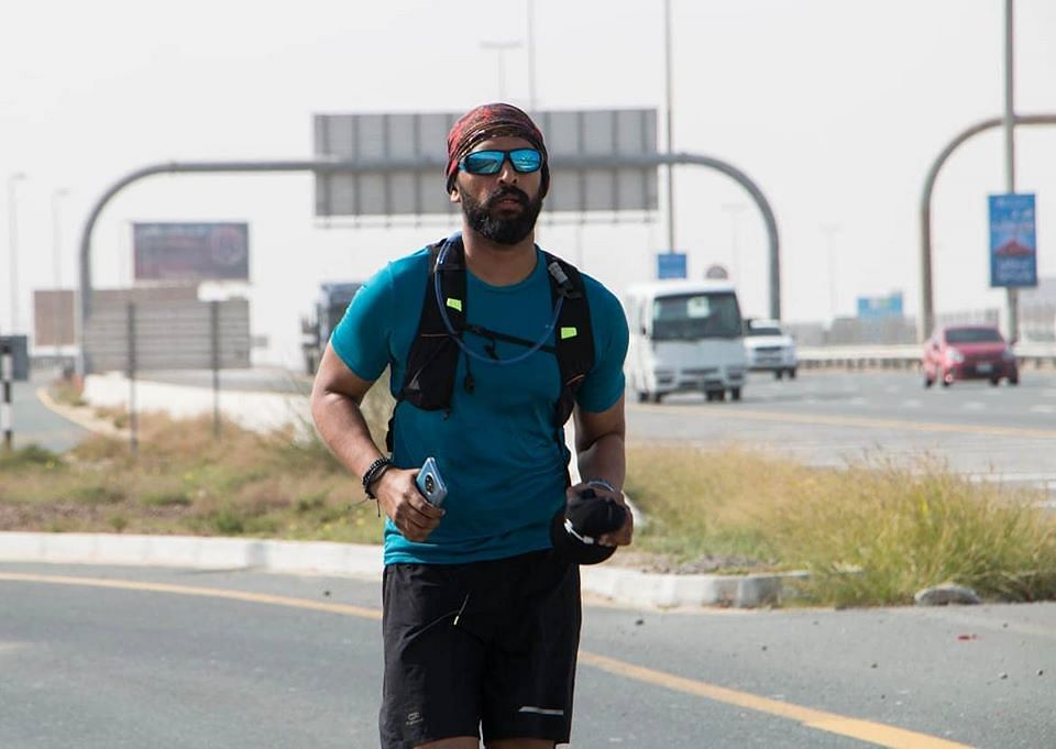 From Abu Dhabi to Dubai, 'Barefoot Mallu' runs 118 KM in 27 hours