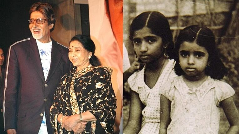 Amitabh Bachchan shares unseen childhood pic of Lata Mangeshkar and Asha Bhosle