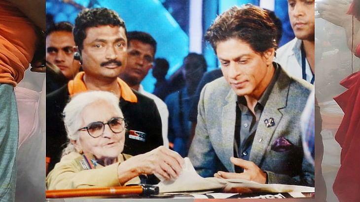 Nirmala Pathak with Shahrukh Khan