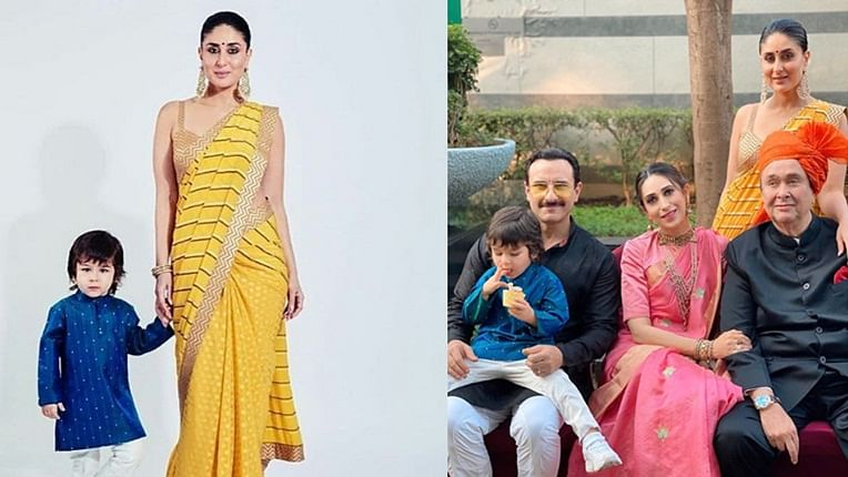 Taimur Ali Khan steals all the attention as Saif Ali Khan, Kareena, Karisma and Randhir Kapoor pose for family portrait