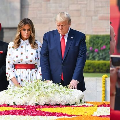Melania and Ivanka Trump exude elegance with chic ensembles at the Rashtrapati Bhavan
