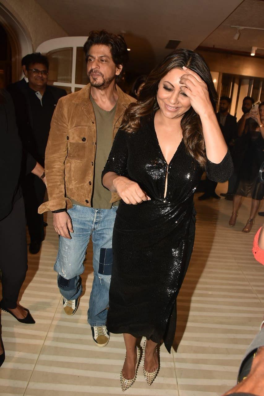 Shah Rukh Khan and wife Gauri at Gauri Designs