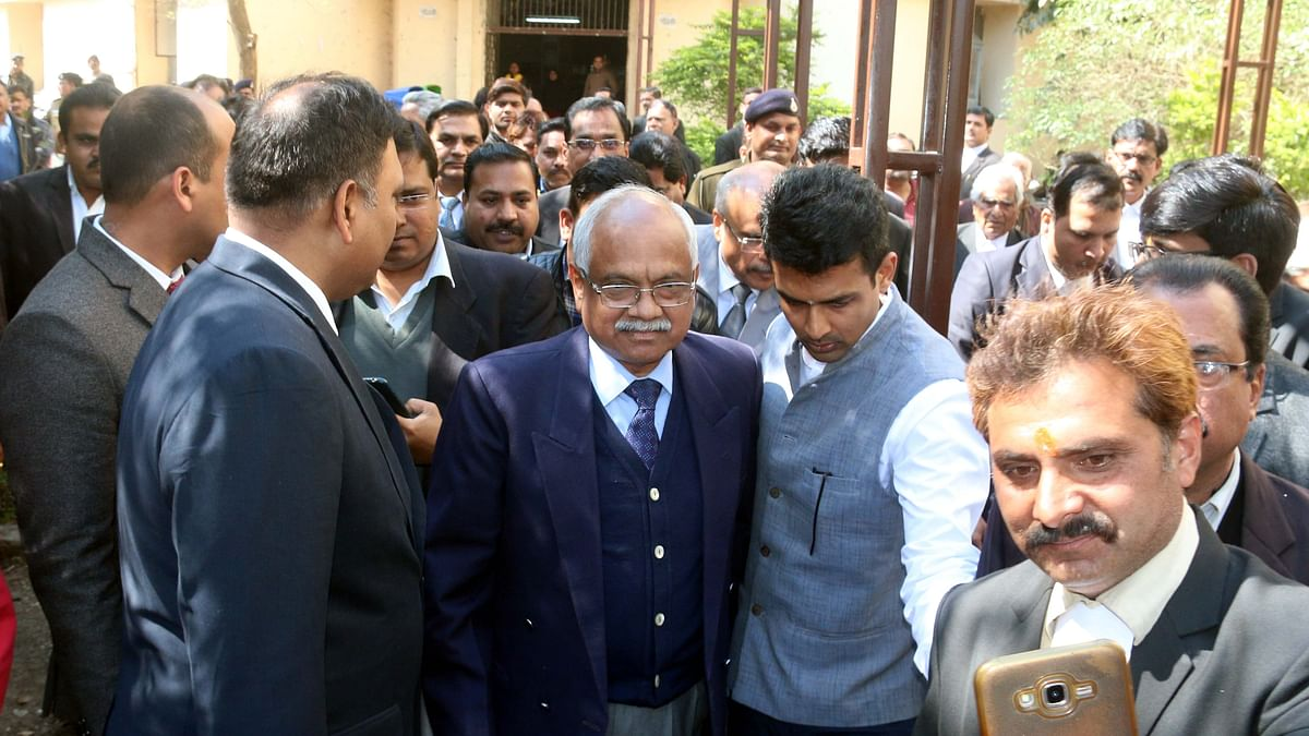 Chief Justice of Madhya Pradesh Justice  AK Mittal visits District and Sessions Court, Bhopal, on Saturday.
