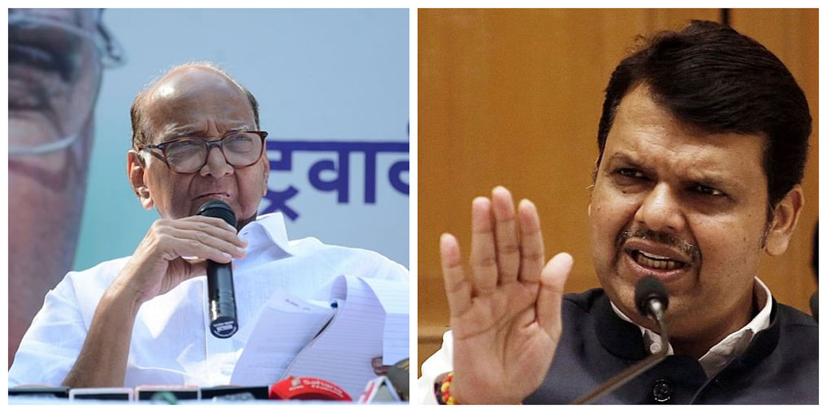 Pawar trying to implicate ''Hindutvawadis'' in Bhima Koregaon case: Devendra Fadnavis