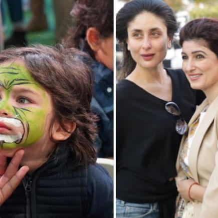 Inside Pics: Taimur paints his face like a tiger at Karan Johar's twins' birthday bash