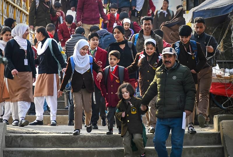 Schools reopen in Kashmir after remaining shut for seven months
