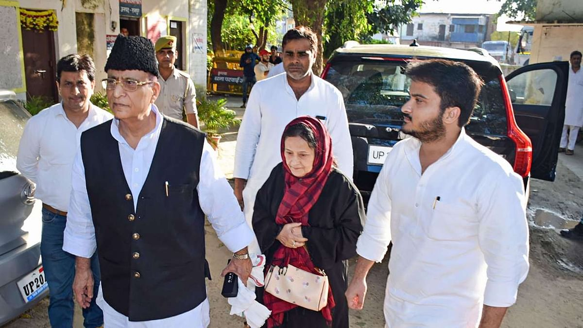 MP Azam Khan with wife and son