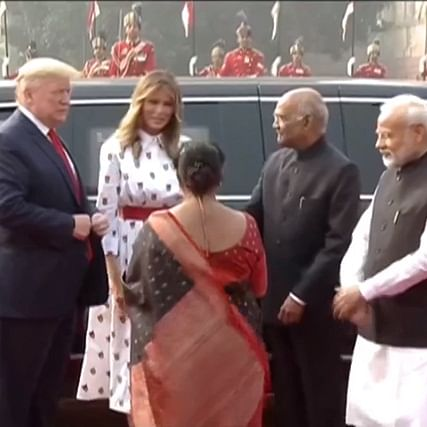Donald Trump India visit Updates: Trump and PM Modi arrive at Rashtrapati Bhawan