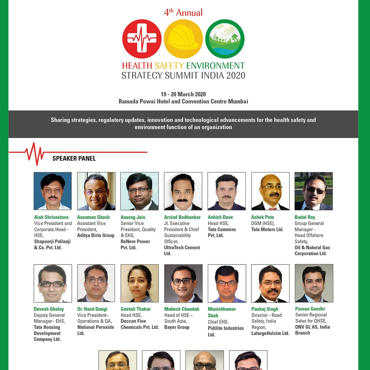 Benchmark your HSE standard at 4th Annual HSE Strategy Summit India 2020