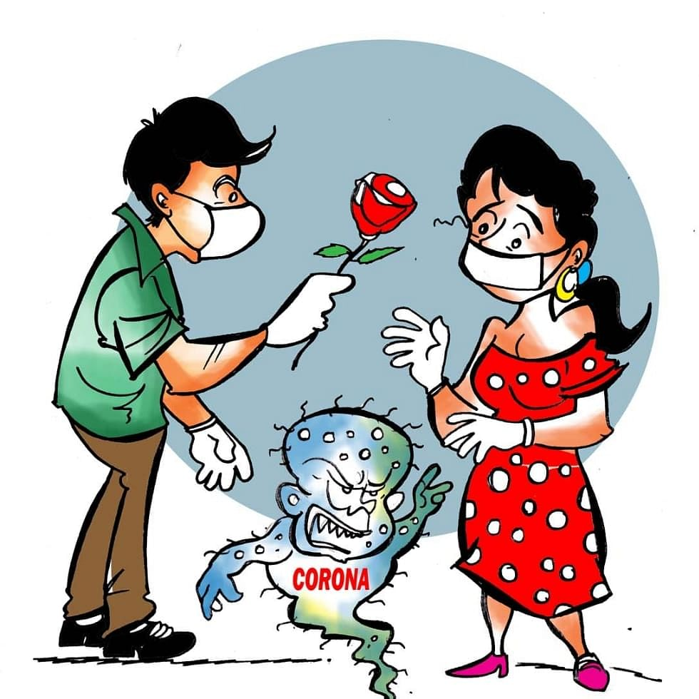 Fear of H1N1, nCoV on Valentine's Day: Kiss can make you ill, don't hug but say Namaste