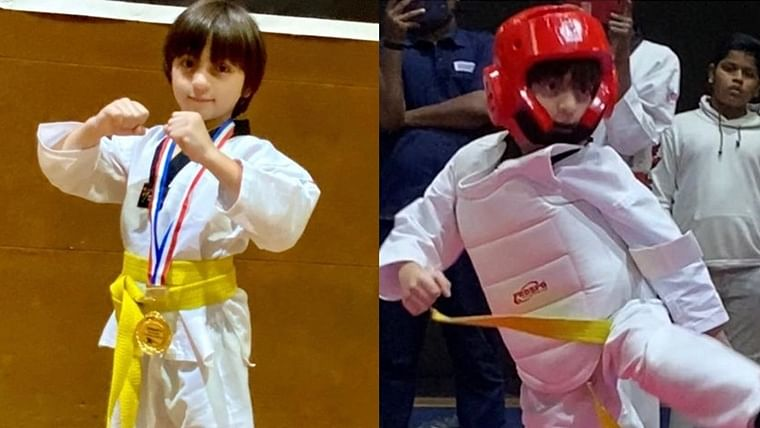 'Proud and inspired': Shah Rukh Khan shares son AbRam's Taekwondo moment