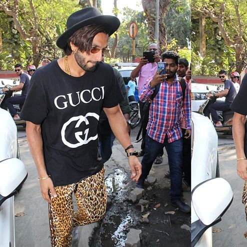 FPJ Fashion Police: Ranveer Singh pairs Rs 26k Gucci t-shirt with leopard print pants