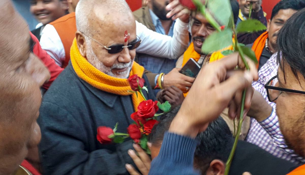 Rape accused Chinmayanand gets bail, welcomed outside prison with flowers