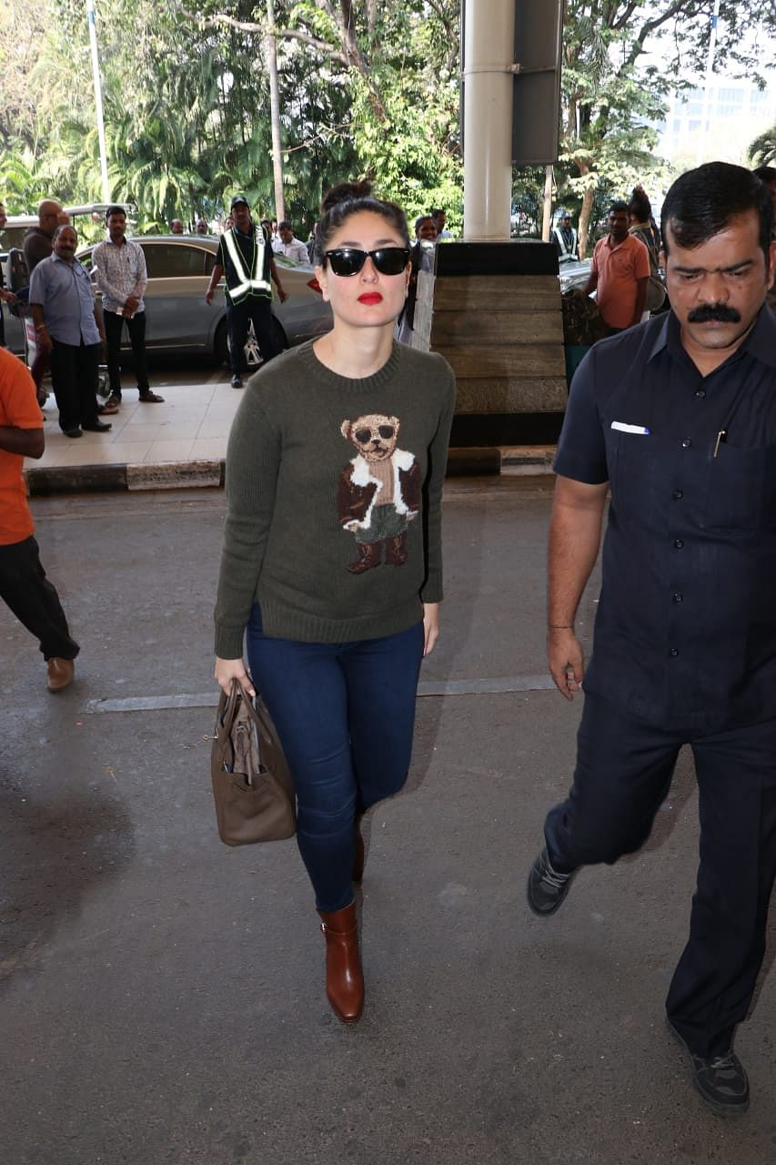 Kareena Kapoor Khan at the airport