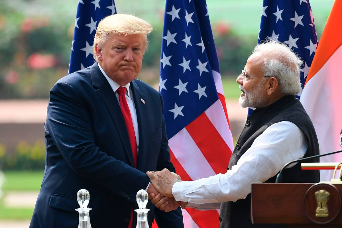 US President Donald Trump during his visit to India in February, 2020