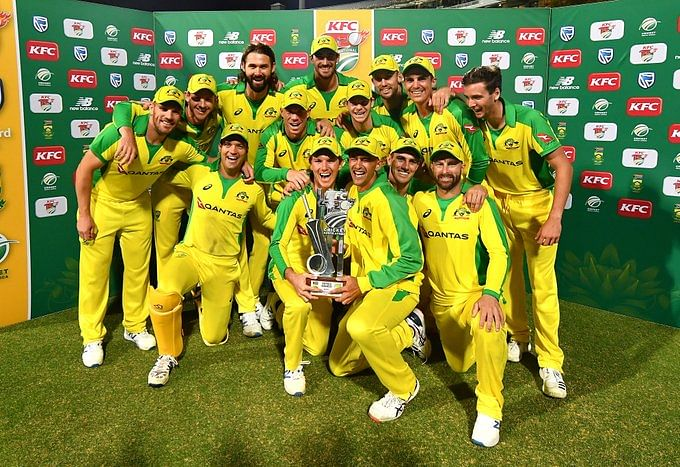 Australia won the third T20I by 97 runs to lift the series cup after the first two matches were held 1-1.