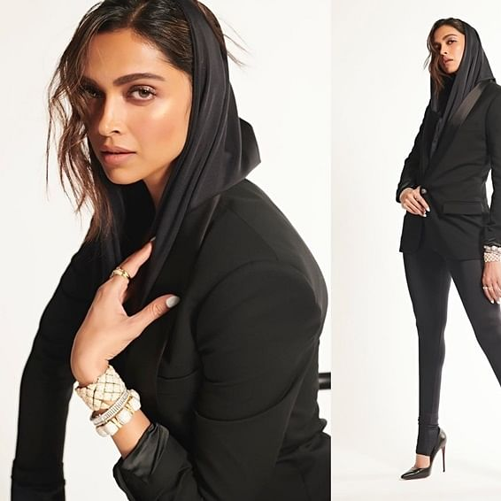 Watch video: Deepika dances to 'Ghoomar', sings 'Dard e Disco' while sporting a Balmain hooded blazer
