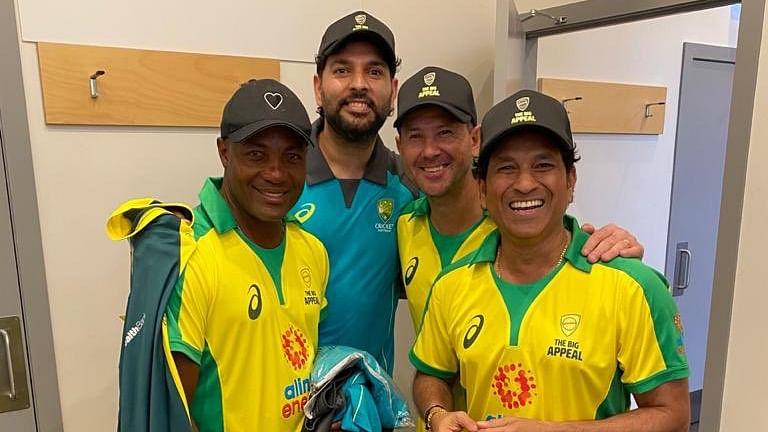 Brian Lara, Yuvraj Singh, Ricky Ponting and Sachin Tendulkar