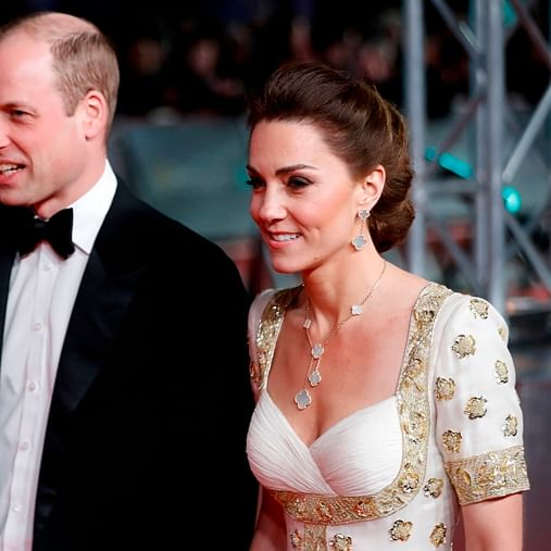 Kate Middleton repeats her 2012 Alexander McQueen gown at the 2020 BAFTAs