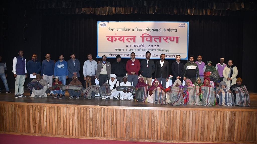 NTPC Dadri distributes blankets under CSR initiative