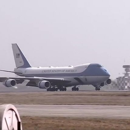 Donald Trump India visit Updates: Air Force One with Trump family on board lands in Ahmedabad