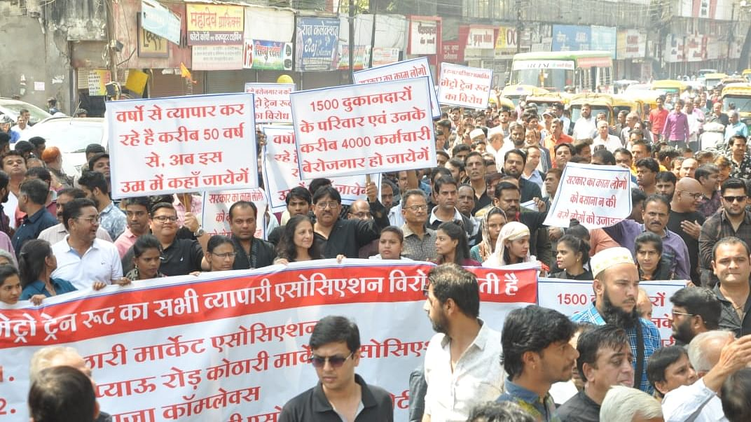 Indore: MP Lalwani comes out in support of shopkeepers opposing proposed metro route