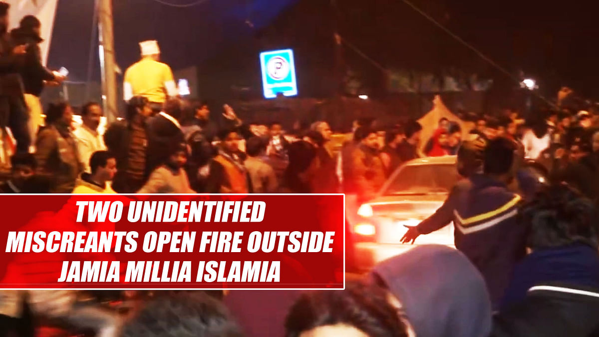 Two unidentified miscreants open fire outside Jamia Millia Islamia