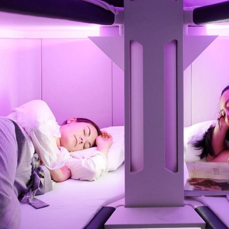 A bed for Air New Zealand economy class passengers?
