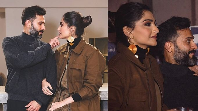 Sonam Kapoor shares a mushy video of hubby Anand Ahuja receiving her at airport