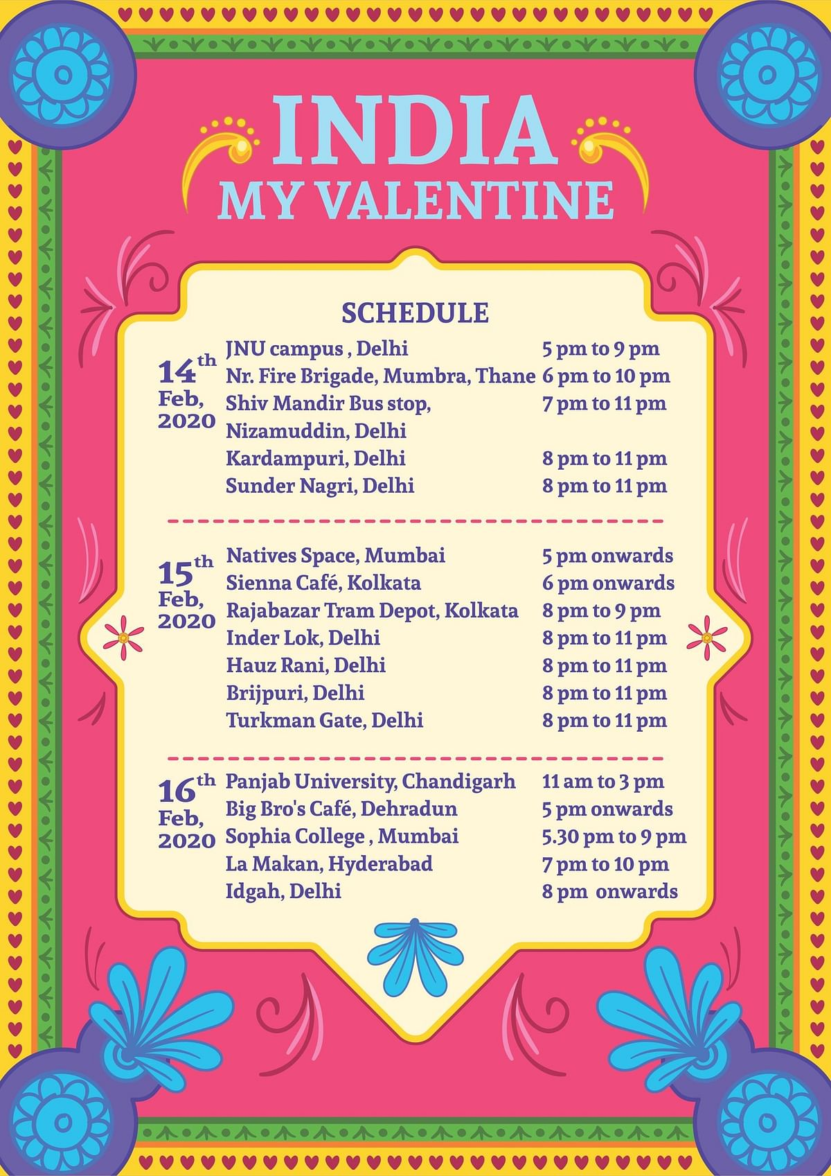 Naseeruddin Shah, Swara Bhasker and other artists unite in Mumbai to celebrate India over Valentine's weekend