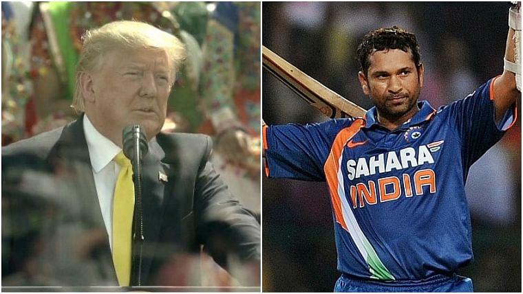 Donald Trump and Sachin Tendulkar