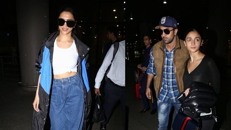 Airport diaries: Deepika Padukone, Ranbir Kapoor and Alia Bhatt back in the bay