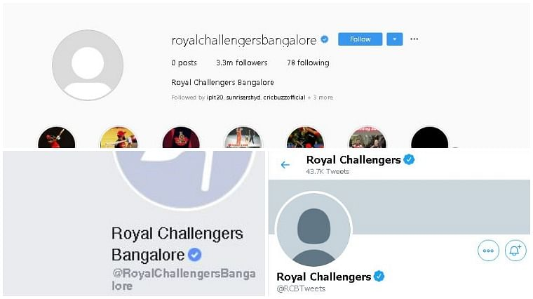 Royal Challengers Bangalore delete profile photo from social media, remove posts from Instagram