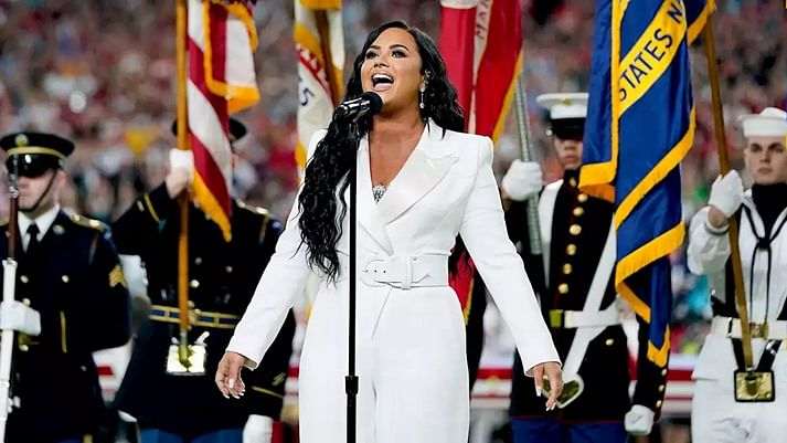 When Demi Lovato predicted singing the national anthem at Super Bowl 10 years ago