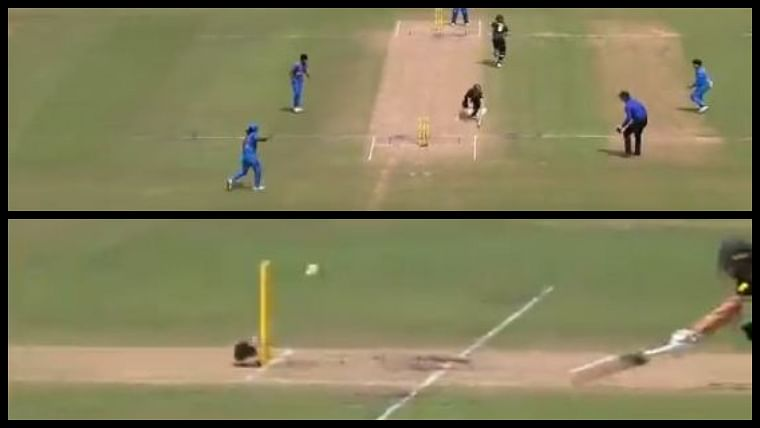 Watch: Stump-mic cable saves Australia's Meg Lanning from run-out