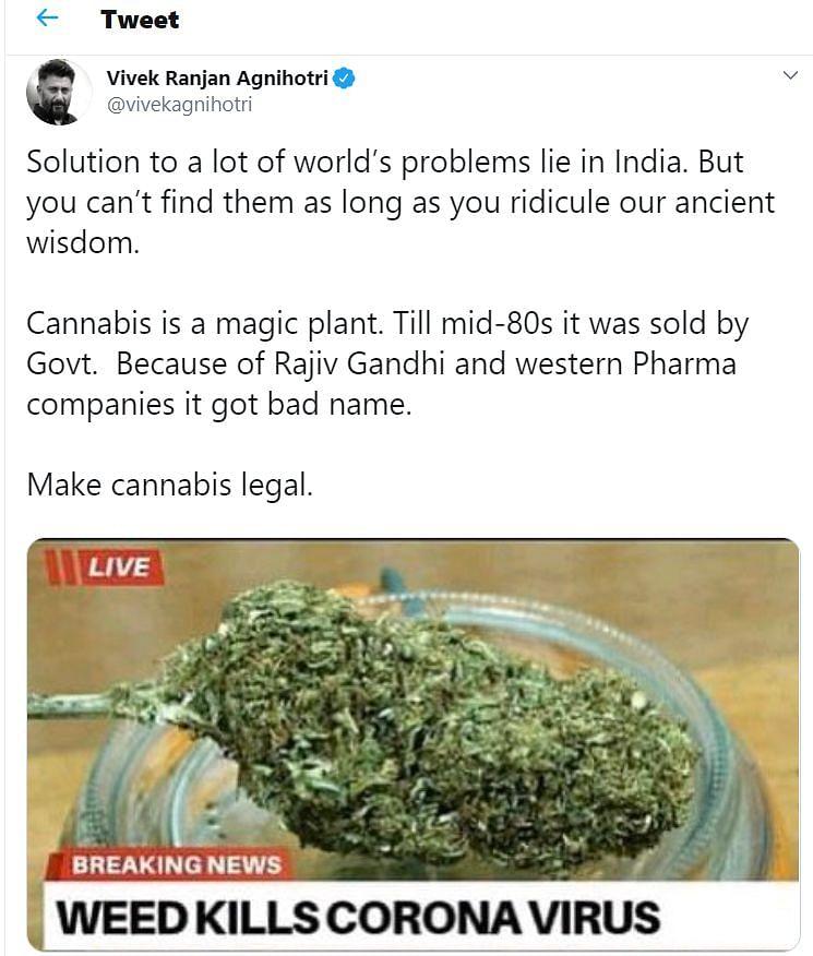Vivek Agnihotri's tweet