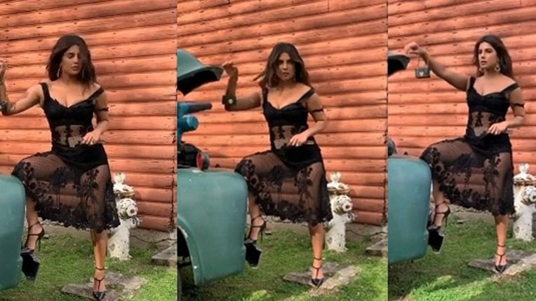 Priyanka Chopra Jonas flaunts her sexy curves in black see-through dress for magazine cover; see pics