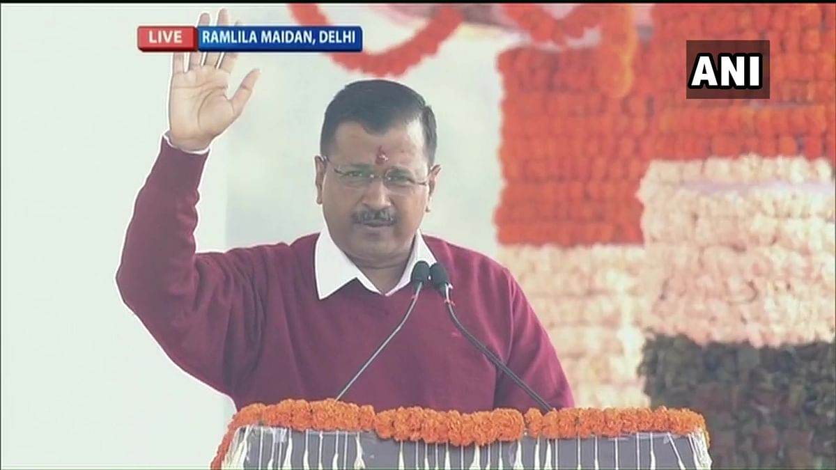 Arvind Kejriwal recites 'Hum Honge Kamyab'; takes oath as Chief Minister of Delhi for a third term