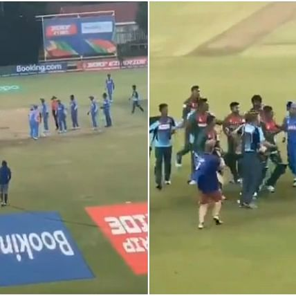 'They don't know how to take a victory': Twitter slams Bangladeshi players for clashing with Indian players after U-19 CWC final