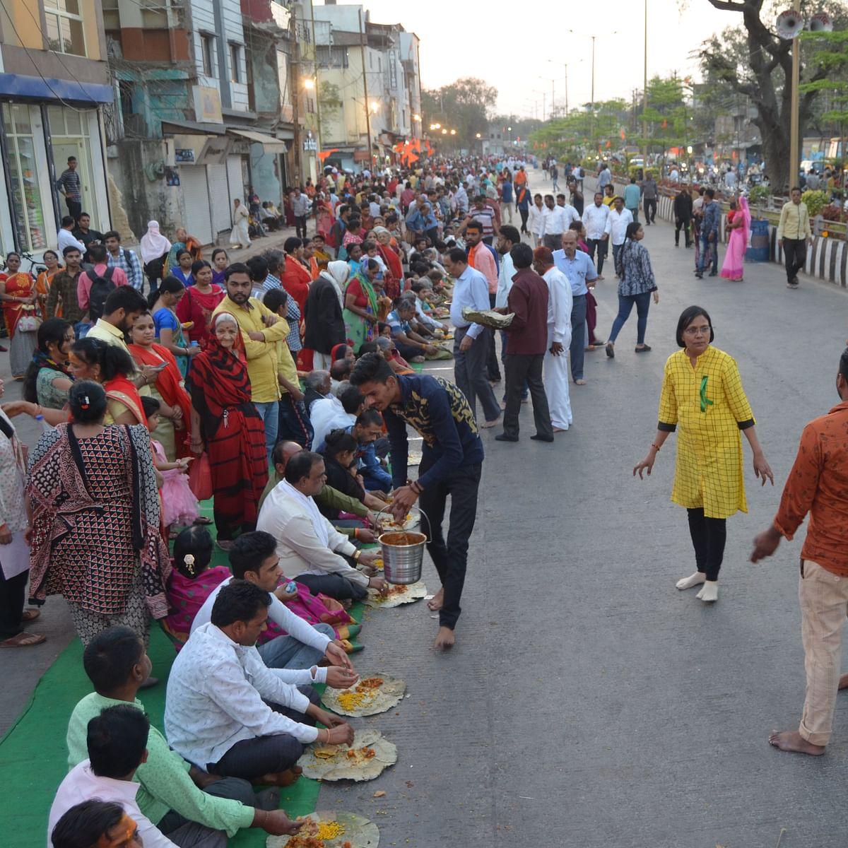 Indore: Over 10 lakh devotees attend 'Nagar Bhoj' at Pitreshwar Hanuman Dham