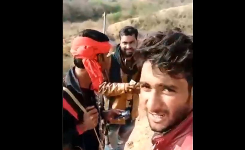 One of the videos shared by the dacoits in Rajasthan