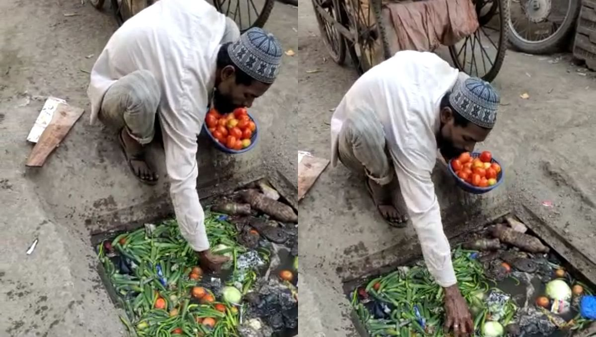 Mumbai: The real story of the viral video of the man picking vegetables from a drain