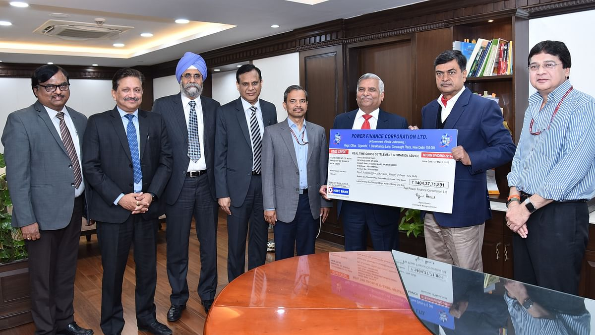 PFC pays Rs 1404.37 crore interim dividend to government
