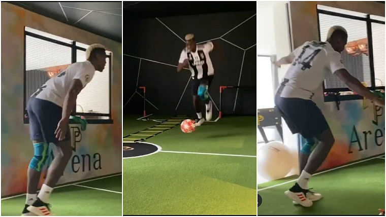 Paul Pogba wears Juventus jersey in support of his teammates who tested positive for coronavirus