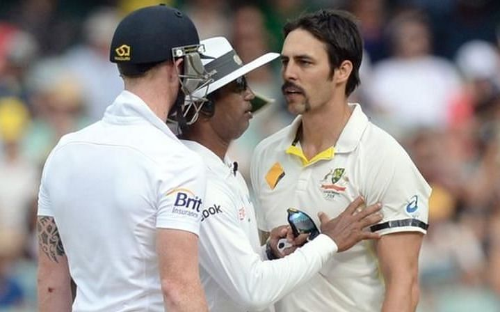 England all-rounder Ben Stokes (L) and former Australian pacer Mitchell Johnson had exchange of words on social media on England's recent handshake ignorance topic.
