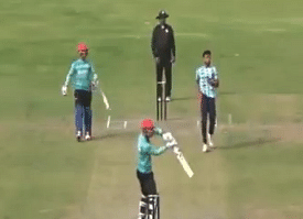 Rashid Khan playing a helicopter shot