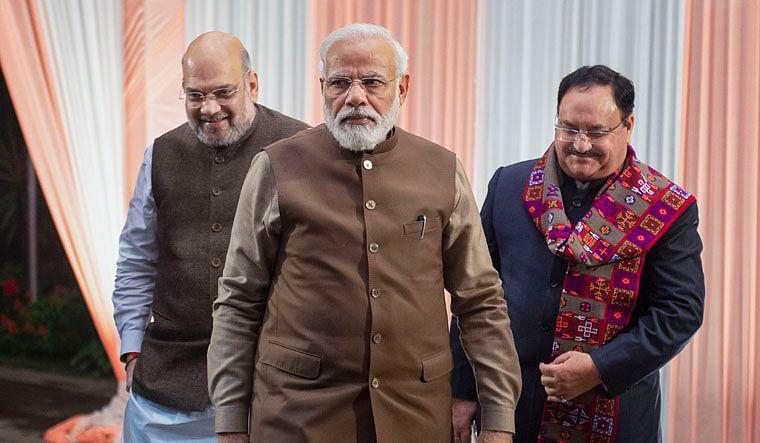 Narendra Modi, Amit Shah and JP Nadda